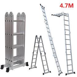 4,7 millones de Aluminio multiuso4X4 Pasos escalera telescópica extensible de extensión del reino unido