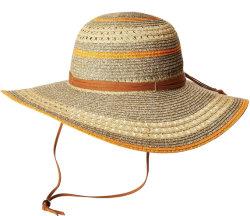 Benutzerdefinierte einstellbare Panama Papier Stroh Beach Hut mit breiter Krempe Für Frauen