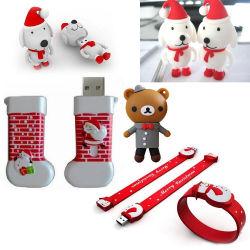 Рождественский подарок полной емкости Custom ПВХ Предположим флэш-памяти USB