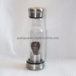 Oeil de Tigre cristal de quartz naturel Angel bouteille d'eau, bouteille d'eau de pierres précieuses, bouteille de cristal, à l'Oeil de Tigre Figurine Ange cristal de quartz