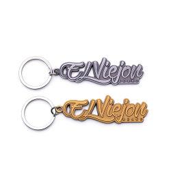 Articles promotionnels de Noël de l'émail en alliage de zinc Key Ring Custom Fawn Logo trousseau de métal