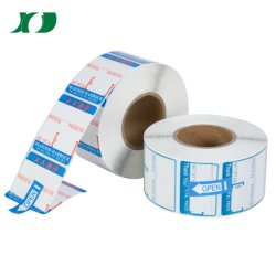Étiquette blanche de haute qualité étanche étiquette thermique largement utilisé de l'industrie OEM Étiquette personnalisée