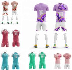 Comercio al por mayor Venta caliente Diseño de impresión por sublimación de Soccer Jersey uniformes