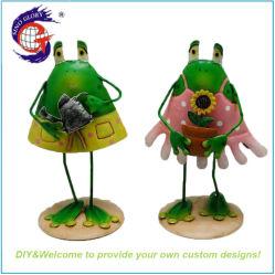 Металлические лягушки ремесел для дома украшения