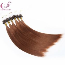 Micro link Bead Ring 24 pollici Nano hair Extensions umano Capelli Remy