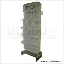4-уровней белого косметический акриловый подставка для дисплея с подсветкой и брошюра в салоне