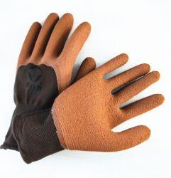 Faire tremper la sécurité en caoutchouc orange gant de travail à Guangzhou
