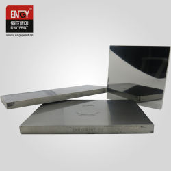 Tampon de haute qualité de l'impression miroir Photopolymérique Gravure personnalisée de la plaque de tôle en acier épais /plaque en acier métallique pour l'imprimante du tampon