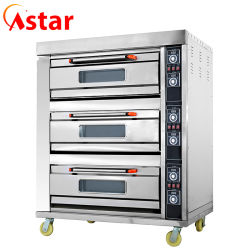 Astar Kitchen Crown 3 Deck 6 Trays Food Bread Bakery Equipment Commercial Electric Baking Ovens