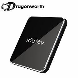 Caixa de TV Android H96 Max S905X2 4G 64G totalmente carregado na caixa de TV HD 1080P Download Android Ad o Flash Player para o Android