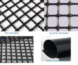 PP/PE Biaxial HDPE UniAxial Geogrid 100/50kn لتعزيز الطريق.