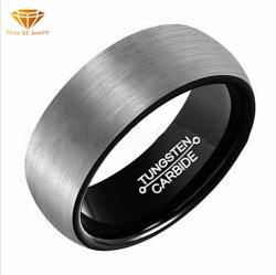 Gouden IP van het Wolfram van de Ring van de Steen van het Wolfram van de Juwelen van de hoogste Kwaliteit Zwarte Ring Geplateerde Juwelen Tst4181