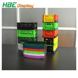 Colorida Caja de plástico plegable pequeña caja de almacenamiento para la vida diaria