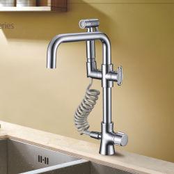 شبّاط المطبخ من الكروم الأصفر المطهو اسحب للخارج Spray Kitchen Se Faucet