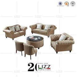 Sofá Chesterfield Mobel sofá de tela con silla
