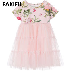 20221 Niños Moda niños dulce bebé Cute Princess Pageant Vestido de Nina Flora Flower Girl vestidos de fiesta