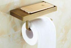 De gouden Klassieke Hardware van de Badkamers van de Houder van het Document van de Stijl