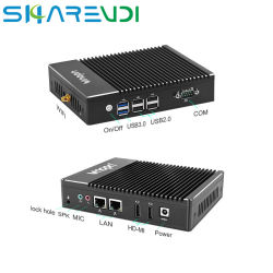 A dupla afixação Thin Client sem ventoinha PC Industrial Computer 2 Porta LAN de núcleo quádruplo J3160