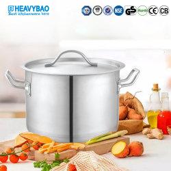 Heavybao cocina comercial de acero inoxidable olla de sopa