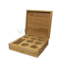 Loch-hölzerner Kaffee-Kapsel-Halter-Holz-Bambuskasten des Qualitäts-heißer verkaufender kundenspezifische Geschenk-Kasten-7+1