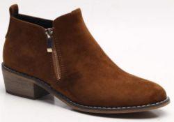 حذاء قصير من البولي يورثان PU Lady Flat الكعب