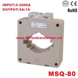 Einphasiges ABS-PC 800/5A 1000/5A 1500/5A 2000/5A der Cer-aktuellen Transformator-Msq-80 für das Messen