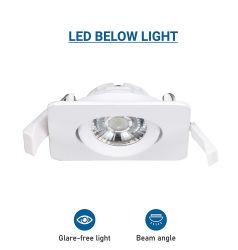 Квадратный стиль LED потолочный фонарь направленного света Теплый 2700K тонкий быстросъемным разъемом 18W легко установить под руководством затенения