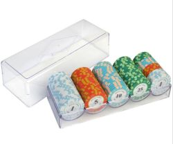 SET di chip da poker DA 100 PEZZI con set di chip in ceramica/argilla Box 14G Texas Hold′ em Poker Chips Casino Coins