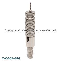 El gancho con las pinzas de cable colgando de la pared de vidrio de doble cara de Imagen para LED