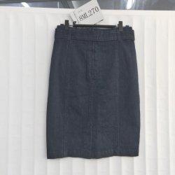 Azul escuro Estilo Blazer sarja de senhoras vestir calças jeans com correia de tecido original