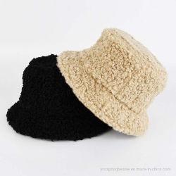 Señoras la moda invierno cálido de la cuchara de lana de cordero Hat