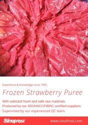 Precios muy buenos,el puré de fresas congeladas sin semillas, puré de fresas congeladas sin semillas, puré de fresas congeladas con semillas,en envases de cartón/cubo/tambor,Brc/Kosher