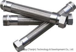 SS304ワイヤー編みこみの軟らかな金属のホースが付いているInox AISIのステンレス鋼321