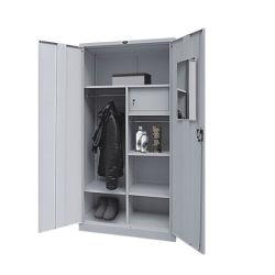 أثاث معدني رخيص خزانة ذات بابين وخزانة داخلية آمنة