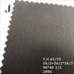 8.3oz all'ingrosso Plain poli il tessuto normale tinto della tela di canapa di T/C 65/35 del cotone