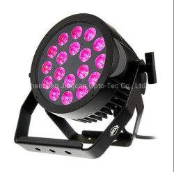 PAR LED Luz Zoom RGBW 4en1 18*10W LED Iluminación de escenarios