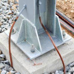 Fio de aterramento elétrico 7#7 AWG aço revestido de cobre ASTM B228