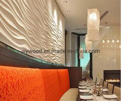 MDF durável 3D Painel de parede 3D na parede da onda restaurante de design