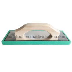 Mango de madera verde de la placa de espuma esponja enyesado paleta flotante para la construcción