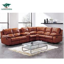 Migliore insieme adagiantesi manuale di vendita del sofà del cuoio dell'aria del meccanismo