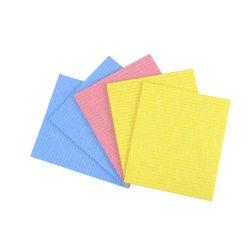 Coloré Dishcloth réutilisables durables plat en coton éponge de cellulose Chiffon de nettoyage