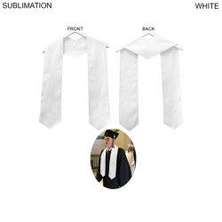 Sublima de poliéster blanco Stole-Graduated Honor