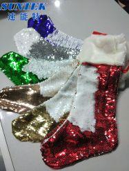 Sublimationunbelegte Sequin-Weihnachtssocken