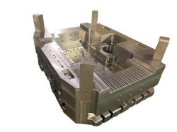 Bonne usinabilité et performance de recouvrement de miroir aluminium matrice acier allié Moulage de la base du carter de l'élévateur