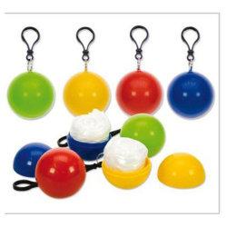 ترقية البلاستيك لعبة كرة القدم المطرية المهرج مع المطر بونشو