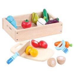 Деревянные режущий продовольствия - Играть в набор продуктов питания с 25+ Hand-Painted деревянных деталей, нож, и Совет