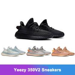 الجملة 1: 1 عالية الجودة Yeizy 350V2 أحذية الجري التأملية الثابتة الرجال أحذية الرياضة مع مربعات الشعار الأصلية حجم الولايات المتحدة 3.5-12