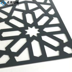 Custom Profil en aluminium extrudé Peforated extérieur décoratif feuille en aluminium de découpe laser pour la construction