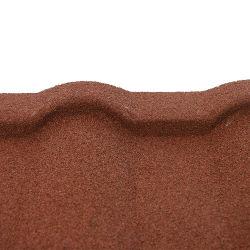 사이드 플래시 전용 스톤 코팅 지붕 금속 타일 판금 지붕 패널 빌딩 재료 Al-Zinc Steel 지붕재 타일