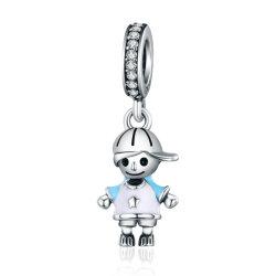 925 Couple de bijoux en argent sterling DIY petit garçon Cz Bracelet de charme
